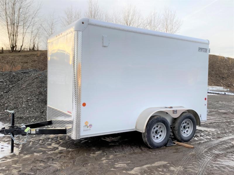 NEW 2020 Car Mate 6x12 HD Tandem Sportster Cargo Trailer w/ Rear Barn Doors