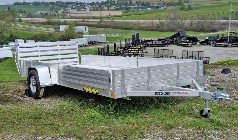 "NEW 2021 Aluma 6'9"" x 15 SR Utility w/ Side Ramps Solid Rear & Bi-Fold Gate"