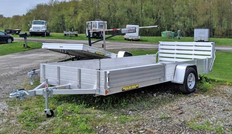 "NEW 2021 Aluma 6'9"" x 15 SR Utility w/ Side Ramps Solid Rear & Bi-Fold Gate"