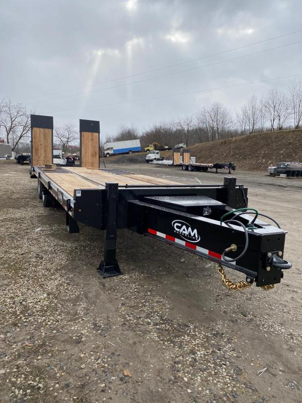 NEW 2020 CAM SUPERLINE 22+5 HD (20 ton) Deckover Tagalong w/ **Air Brakes, 30x80 Wood Filled Air Powered Ramps