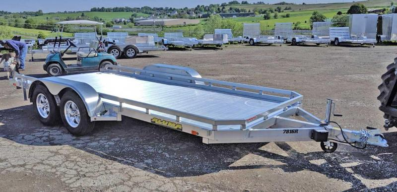 "NEW 2021 Aluma 6'6"" x 16' Tandem Utility Trailer w/ Dove Tail & Pull Out Ramps"