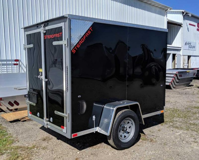 NEW 2020 Steadfast 5x8 V-Nose Cargo Trailer w/ Barn Doors