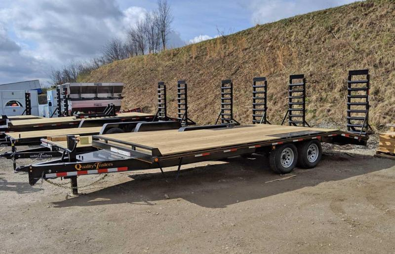 NEW 2020 Quality 16+4 General Duty Deckover Tagalong w/ Stand Up Ramps