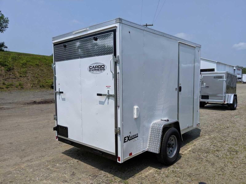 NEW 2020 Cargo Express 6x10 EX DLX Sloped V-Nose Cargo Trailer w/ Ramp