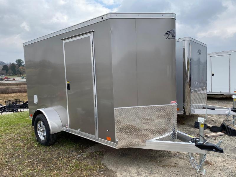 NEW 2020 ATC 5x10 Raven V-Nose Aluminum Cargo Trailer w/ Rear Ramp Door