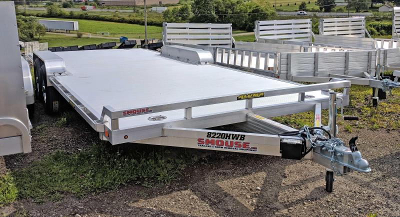 "NEW 2020 Aluma 6'10"" x 20 HD Wide Body Utility Trailer w/ Underbody Ramps"