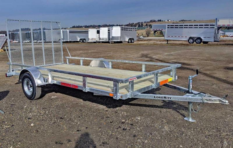 NEW 2020 Load Rite 6.5' x 14' GALVANIZED Utility Trailer