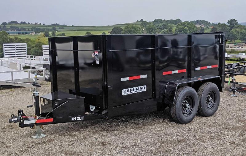"NEW 2020 Bri-Mar 6x12 Lo Pro Equipment Dump w/ 44"" High Sides (12k)"