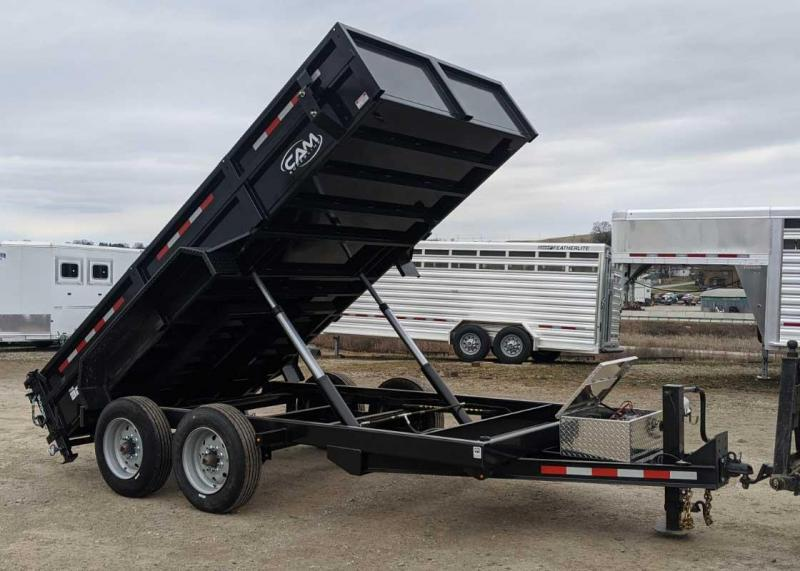 "NEW 2020 CAM SUPERLINE 6'9"" x 14 HD ""Beast"" Lo Pro Equipment Dump Trailer"