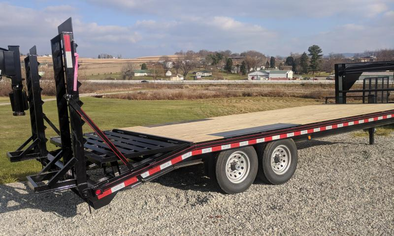 NEW 2019 Quality 20+4 PRO Deckover Gooseneck Trailer w/ Spring Assist Ramps & Pop-Up Dovetail