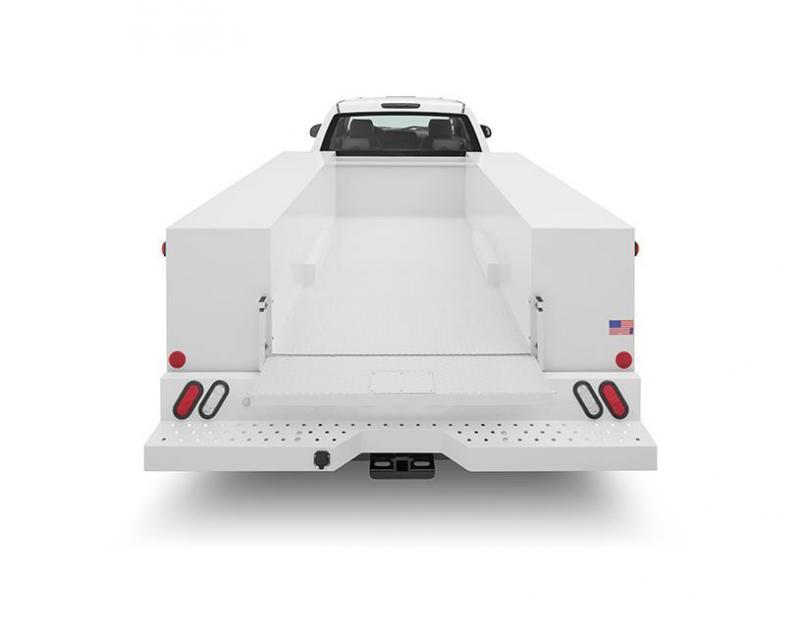 2019 Warner Select 8' POWDERCOATED Single Axle Utility Body
