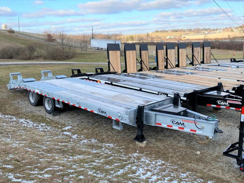 NEW 2020 CAM SUPERLINE 20+5 HD (20 TON) GALVANIZED Deckover Tagalong w/ Air Brakes and Self Cleaning Beaver Tail w/ Angle Stand Up Ramps