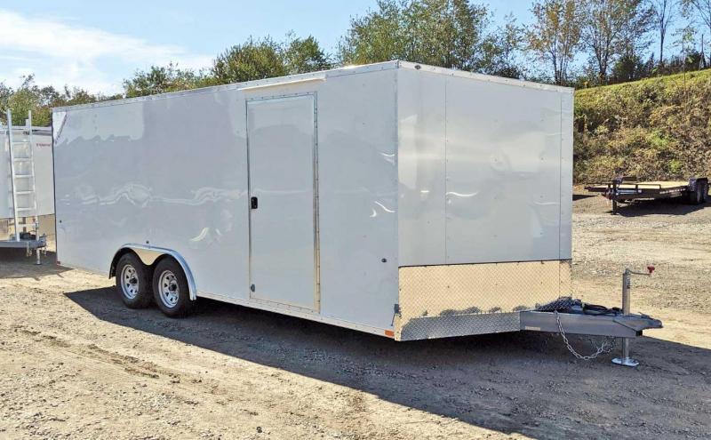 NEW 2020 Steadfast 8.5 x 20 JST Sloped V-Nose Car Hauler w/ Ramp Door