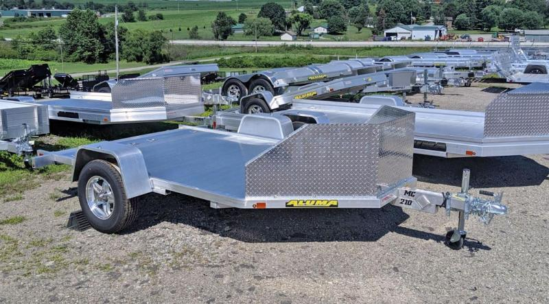 NEW 2021 Aluma 10' (2 Place) Motorcycle Trailer w/ Pull Out Ramp
