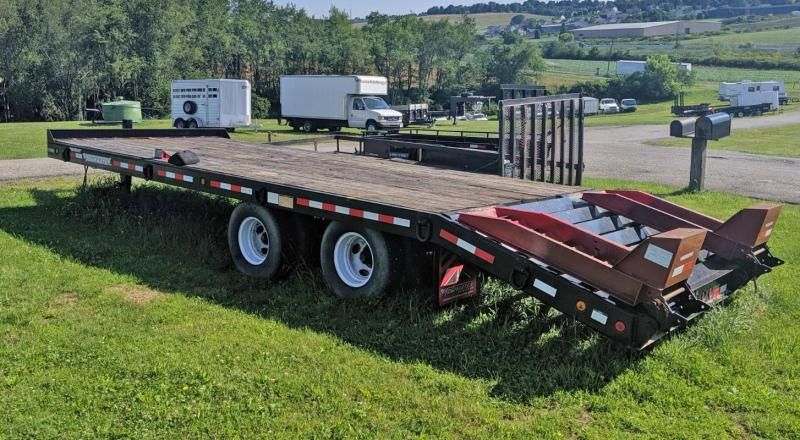 USED 2012 Towmaster 10 ton 20+5 Deckover Tagalong Trailer w/ Air Brakes