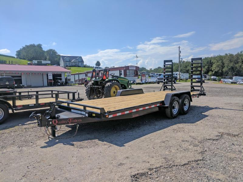 NEW 2020 Quality 20' HD PRO Equipment Hauler w/ No Dove, Spring Assist Stand Up Ramps