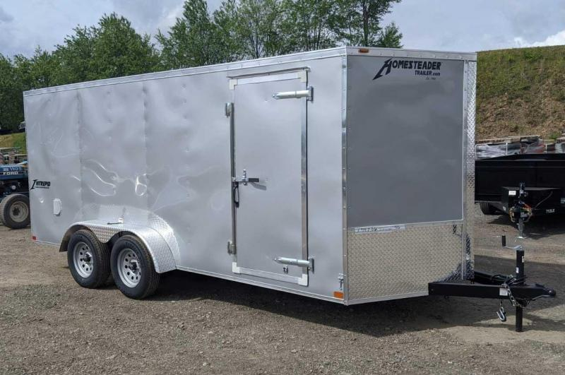 NEW 2020 Homesteader 7x16 V-Nose Intrepid Cargo Trailer w/ Ramp Door