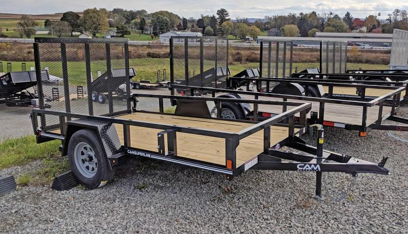 NEW 2020 CAM Superline 6x12 Utility Trailer w/ Tube Top & Spring Assist Gate