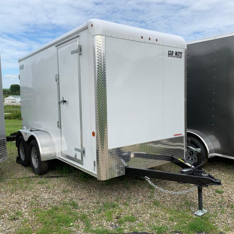 "NEW 2020 Car Mate 6x12 Custom Cargo HD Trailer w/ Ramp Door (6"" Add'l Height)"