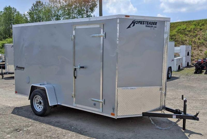 NEW 2020 Homesteader 6x12 V-Nose Intrepid Cargo Trailer w/ Ramp Door