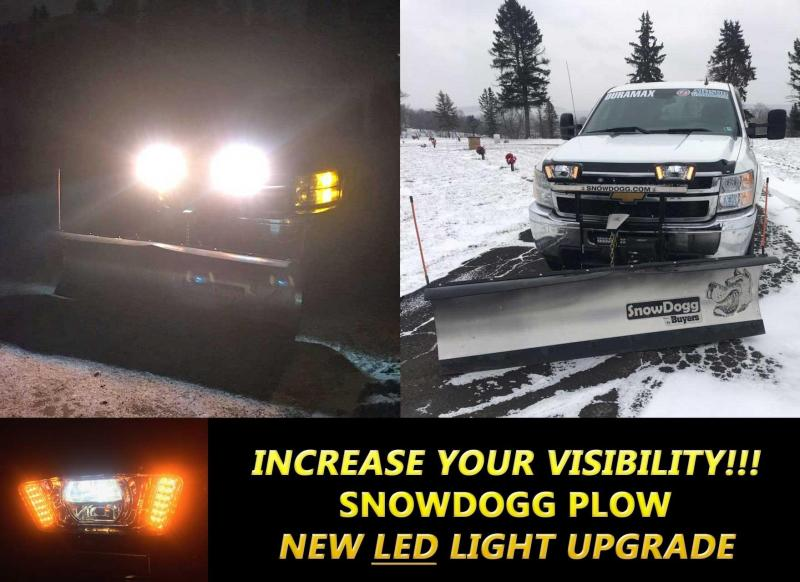 NEW SNOWDOGG 8.5' Extreme Duty Gen 2 Stainless Steel Snow Plow w/ LED Lights