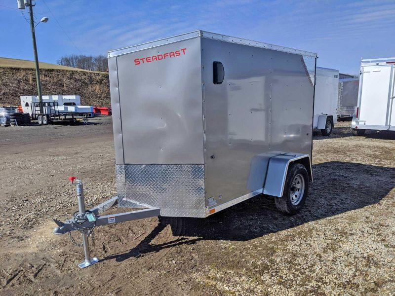 NEW 2020 Steadfast 5x8 JST Sloped V-Nose Cargo Trailer w/ Double Barn Doors