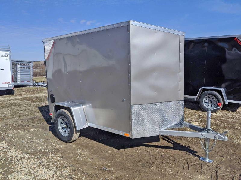 NEW 2020 Steadfast 5x8 JST Sloped V-Nose Cargo Trailer w/ Double Barn Doors
