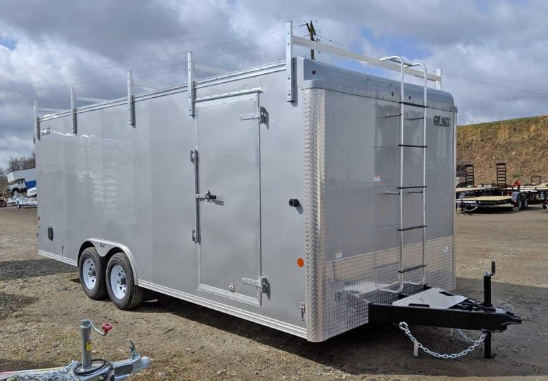 NEW 2020 Car Mate 8x20 HD Custom Contractor Trailer w/ Barn Doors (9990# GVW)