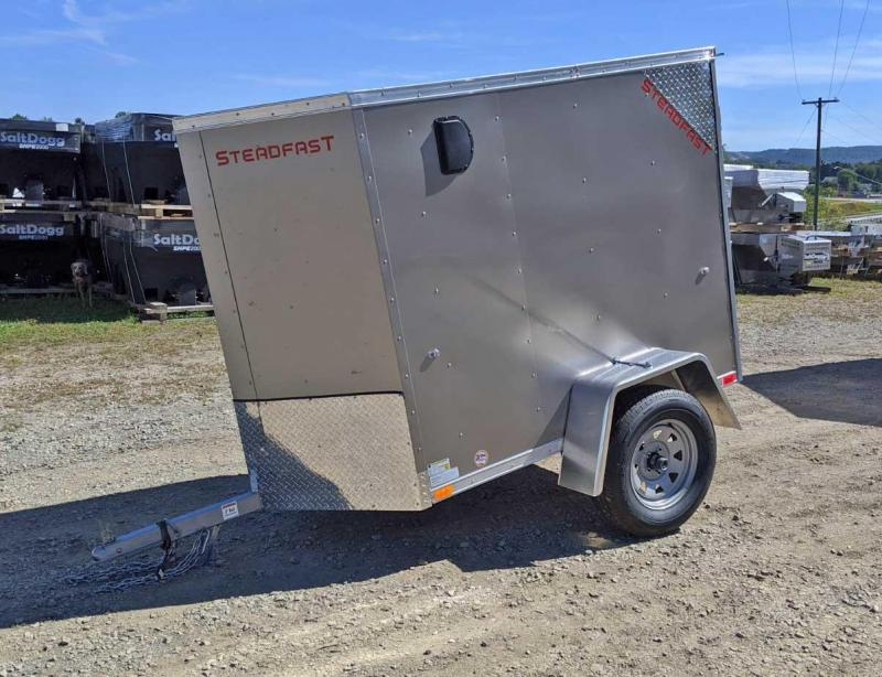 NEW 2019 Steadfast 4x6 JST Sloped V-Nose Cargo Trailer w/ Single Rear Barn Door