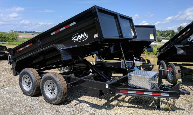 NEW 2020 CAM 6x10 Lo Pro Equipment Dump Trailer