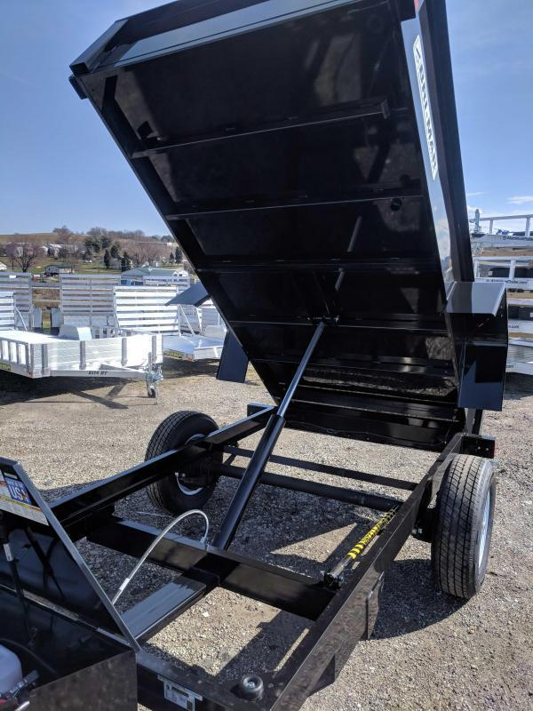 NEW 2019 Bri-Mar 5X8 Lo Pro Dump Trailer