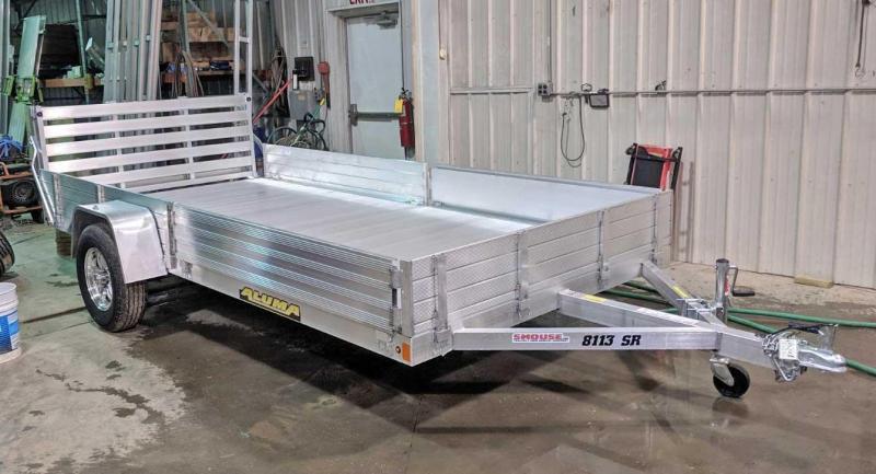 "NEW 2020 Aluma 6'9"" x 13 SR Utility w/ Side Ramps Solid Rear & Bi-Fold Gate"
