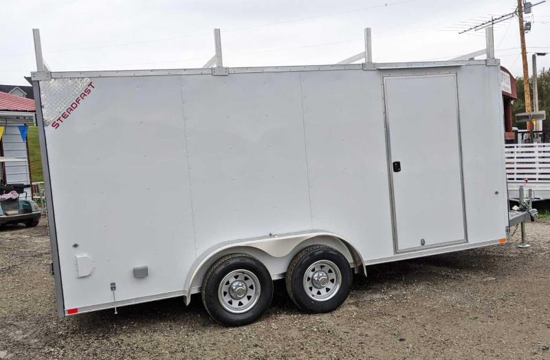 NEW 2020 Steadfast 7x16 Contractor Cargo Trailer w/ Barn Doors