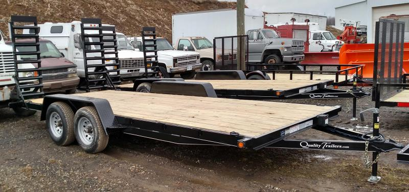 NEW 2020 Quality 16' Econo Equipment Hauler w/ Stand Up Ramps (No Dove)