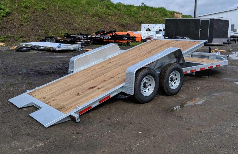 NEW 2020 Bri-Mar HD 20' (4+16) Lo Pro Split Tilt Trailer (Galvanized)
