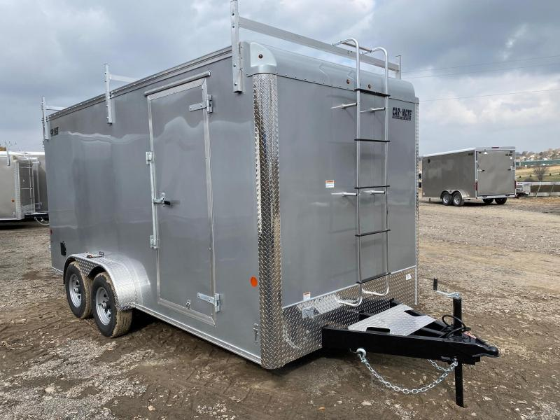 NEW 2020 Car Mate 7x16 HD Custom Contractor Trailer w/Barn Doors