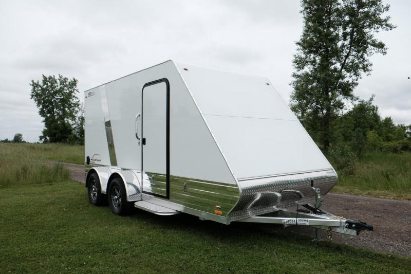 NEW 2021 Legend 7x17 All Sport DELUXE Enclosed Aluminum Trailer w/ Ramp Door - Just Step Out of Your Side by Side!
