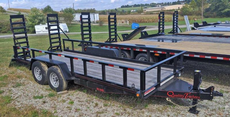 NEW 2019 Quality 18' PRO Skid Steer w/ Top Rail & Spring Assist Stand Up Ramps ( OR 9990#GVW)