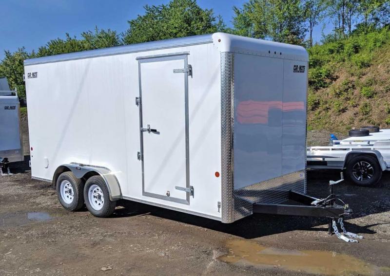 "NEW 2020 Car Mate 7x16 HD Custom Cargo Trailer w/ Ramp Door (12"" Add'l Hgt)"