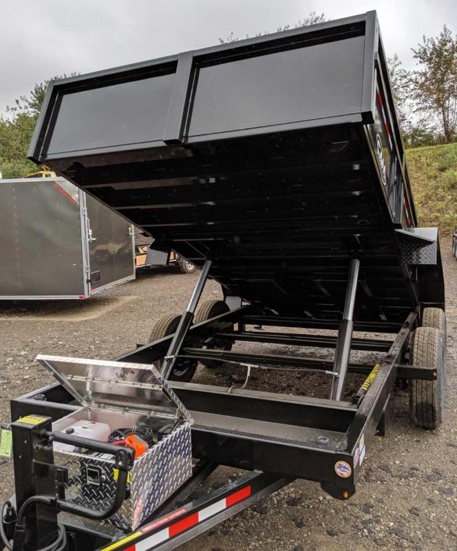 "NEW 2020 CAM 6'9"" x 12 HD Lo Pro Equipment Dump Trailer"
