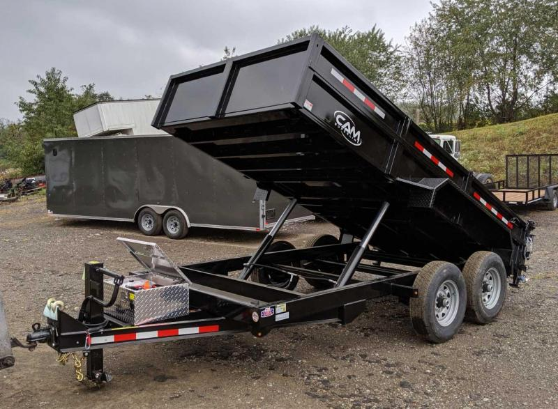 "NEW 2020 CAM 6'9"" x 12 HD Lo Pro Equipment Dump Trailer"