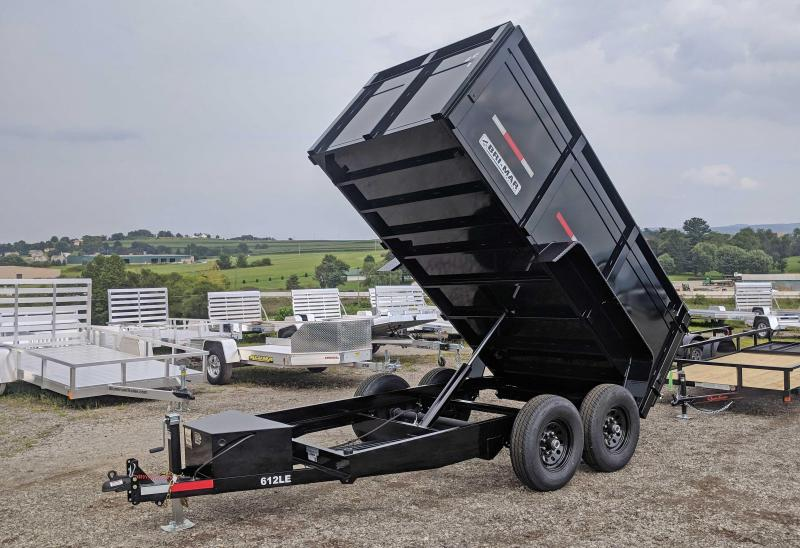 "NEW 2020 Bri-Mar 6x12 Lo Pro Dump Trailer w/ 44"" Fixed Sides"