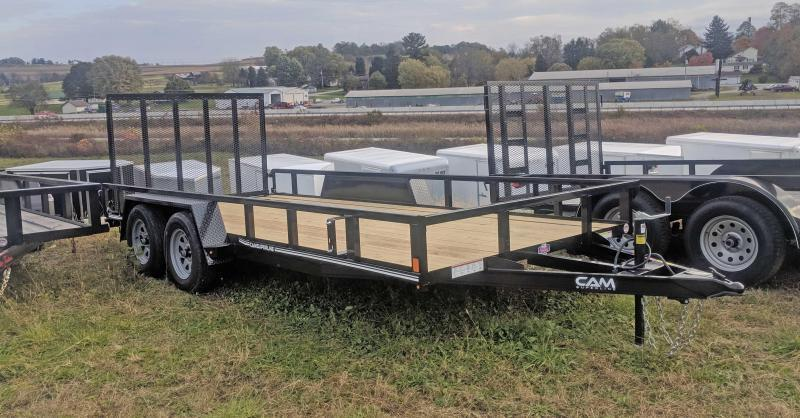 NEW CAM Superline 7x18 Utility Trailer w/ Tube Top & Spring Assist Gate
