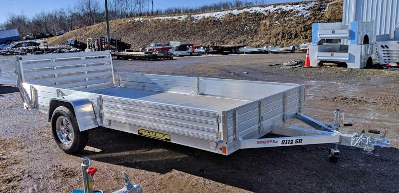 "NEW 2020 Aluma 6'9"" x 12 SR Utility w/ Side Ramps Solid Rear & Bi-Fold Gate"