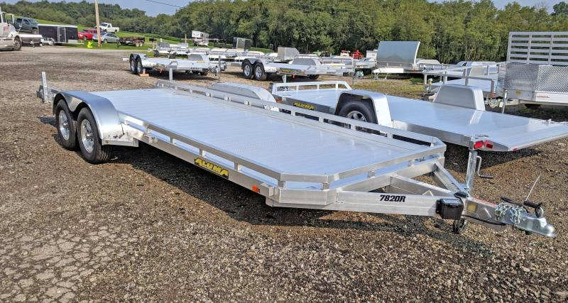 "NEW 2021 Aluma 6'6"" x 18' Tandem Utility Trailer w/ Pull Out Ramps"