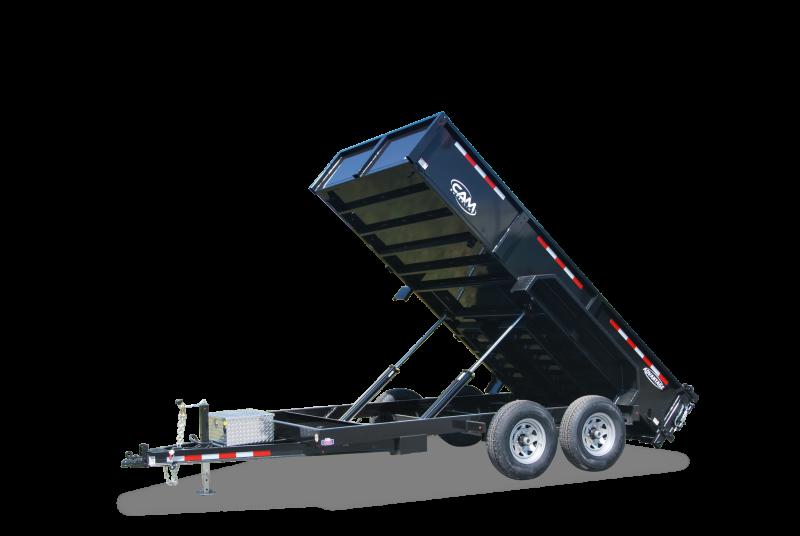 """NEW 2020 CAM """"Advantage"""" 6'8"""" x 14"""" HD Lo Pro Equipment Dump Trailer"""