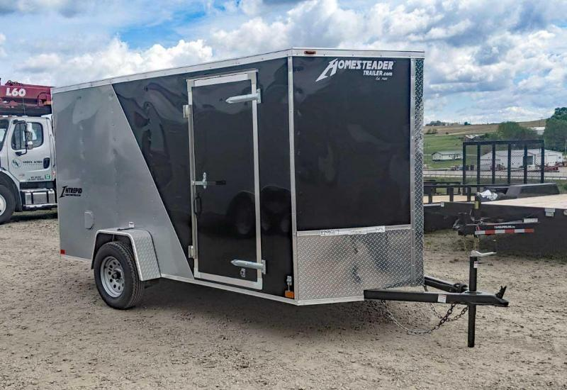 NEW 2020 Homesteader 6x12 V-Nose Intrepid Cargo Trailer w/ Ramp Door