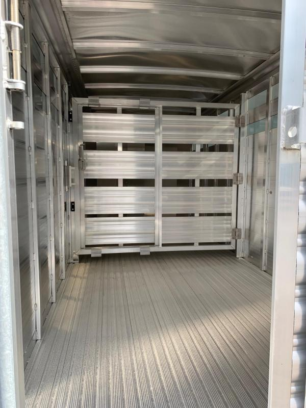 NEW 2020 Featherlite 18' Tagalong HD Stock Trailer with Aluminum Floor