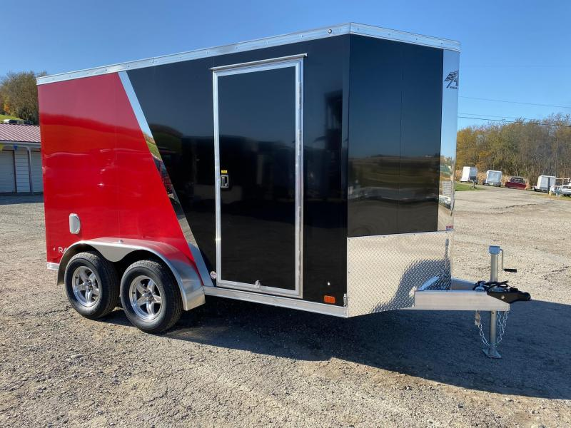 BEAUTIFUL NEW 2020 ATC 6x12 HD Raven V-Nose ALUMINUM 2 TONE  Cargo Trailer w/ Rear Ramp Door