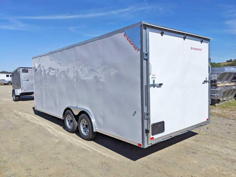 NEW 2020 Steadfast 8.5 x 20 JST Sloped V-Nose Car Hauler w/ Ramp Door